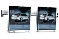 Akryl brochureholdere på skinne