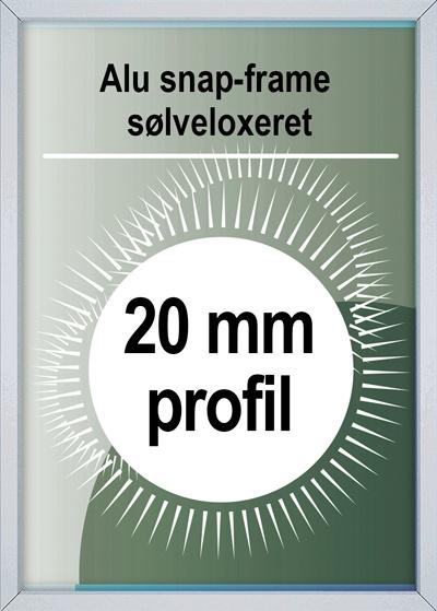 Snapramme - 20mm profil i sølv