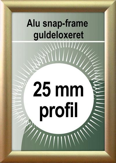 Klip Klap Billedramme - 25mm profil i mat guld