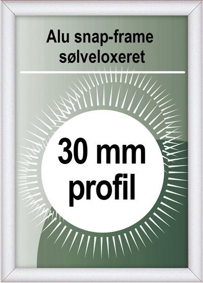 Snapramme - 30mm profil i sølv