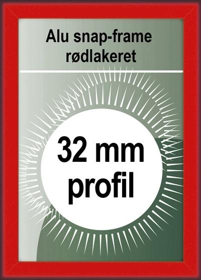 Klikramme - 32mm profil i rød
