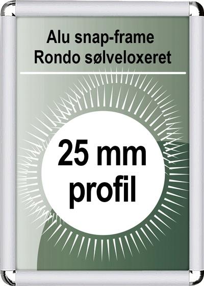 Rondo Snapramme - 25mm profil i sølv