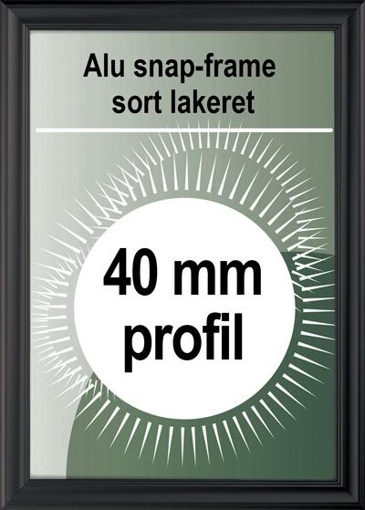 Antique Klikramme - 40mm profil i sort