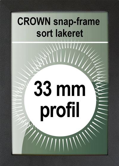 Crown Snapramme - 33mm profil i sort