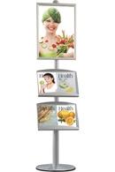 Multi Standere med brochureholdere og plakatrammer