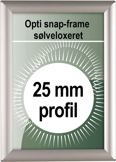 Opti Snapramme - 25mm profil i sølv